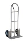 Stainless Steel P Handle Hand Truck, 22 x 19 x 52, Pneumatic Tires
