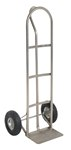 Stainless Steel P Handle Hand Truck, 21 x 18 x 52