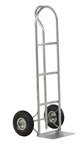 Steel P Handle Hand Truck, 21 x 18 x 52, Pneumatic Tires