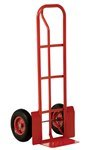 Steel P Handle Hand Truck, 22 x 22 x 52, Pneumatic Tires
