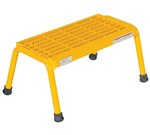 Aluminum Step Stand, 1 Step, Yellow