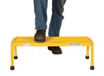 Aluminum Step Stand, 1 Step, Wide, Yellow