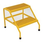 Aluminum Step Stand, 2 Step, Yellow