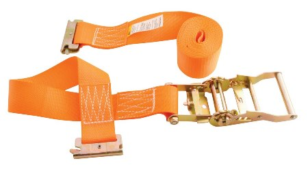 Ratcheting Cargo Strap with E-Clip