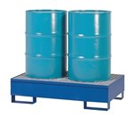 Vertical Drum Retention Basin, 2 Drums, Blue