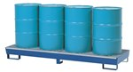Vertical Drum Retention Basin, 4 Drums, Blue