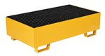 Drum Retention Basin, Holds 2 Drums, Yellow