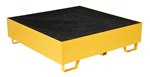 Drum Retention Basin, Holds 4 Drums, Yellow