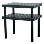 Plastic Grid Top Work Bench, 36 x 24 x 36