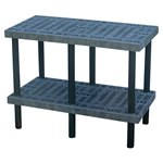 Plastic Grid Top Work Bench, 48 x 24 x 36