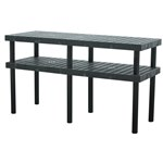 Plastic Grid Top Work Bench, 66 x 24 x 36