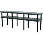 Plastic Grid Top Work Bench, 96 x 24 x 36