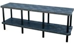 Solid Plastic Work Bench Table, 96 x 24 x 36