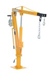 Winch Operated Truck Jib Crane, 1k Extended
