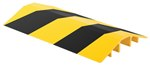 Extruded Aluminum Hose & Cable Crossover, Yellow & Black, 48